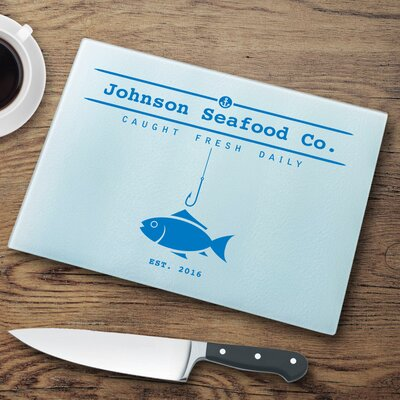 Personalized Glass Cutting Board GC1339 Fish Hook
