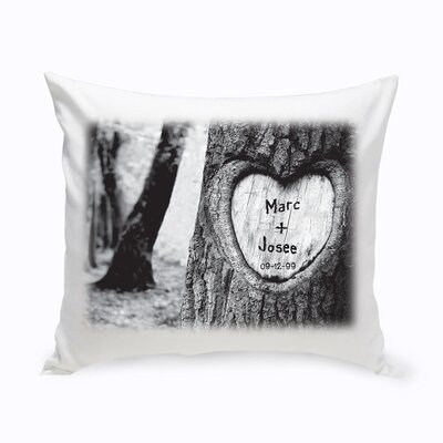 Personalized Tree of Love Cotton Throw Pillow