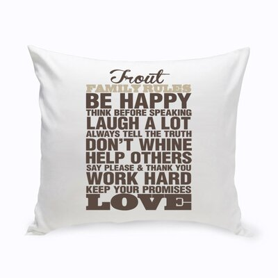 Personalized Rustic Rules Cotton Throw Pillow