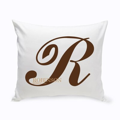 Personalized Calligraphy Monogram Cotton Throw Pillow