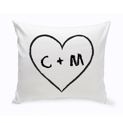 Personalized Unity Heart of Love Cotton Throw Pillow Color: Peach