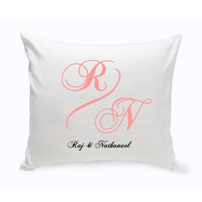 Personalized Unity Marquis Cotton Throw Pillow Color: Peach
