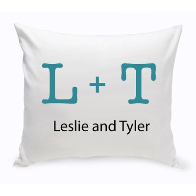 Personalized Unity Typeset Cotton Throw Pillow Color: Navy Blue