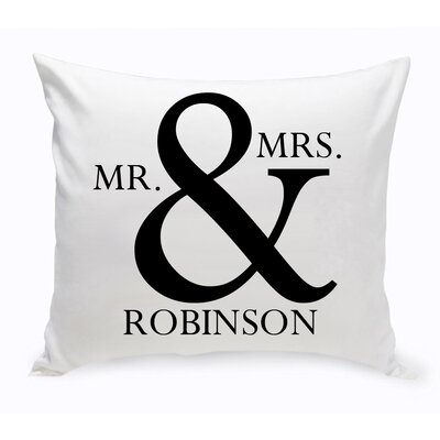 Mr & Mrs Decorative Cotton Throw Pillow