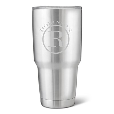 Stainless Steel 30 Oz. Double Wall Insulated Tumbler GC1523 Circle