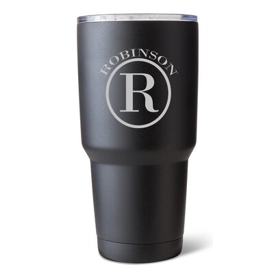 Stainless Steel 30 Oz. Double Wall Insulated Tumbler GC1524 Circle