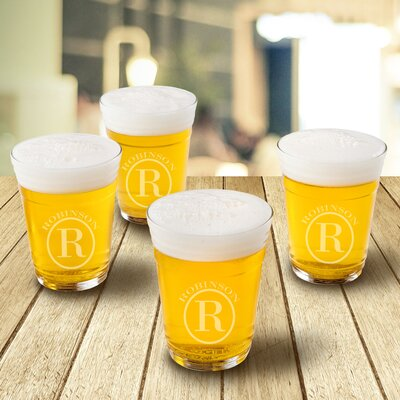 Personalized 16 oz. Glass Beer Glass GC1553+Circle