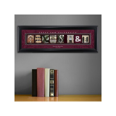 Personalized Gift College Campus Framed Memorabilia NCAA Team: Texas A & M