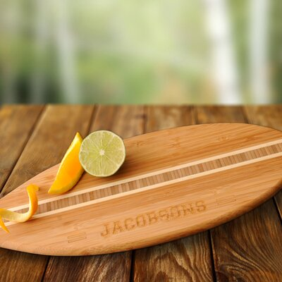 Personalized Gift Surfboard Bamboo Cutting Board