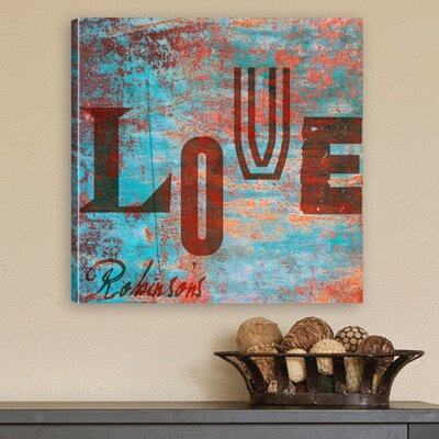 Personalized Gift Watercolor-Graffiti Style Love Graphic Art on Canvas