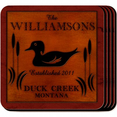 Personalized Gift Cabin Series Coaster