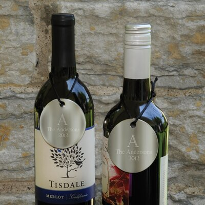 Personalized Gift Monogram Wine Bottle Medallion