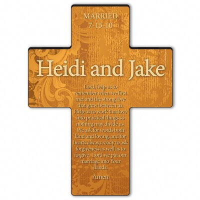 Personalized Gift Gardens of Grace Cross Prayer: Marriage Prayer