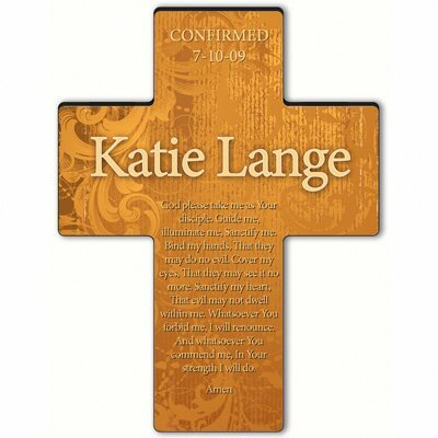 Personalized Gift Gardens of Grace Cross Prayer: Confirmation