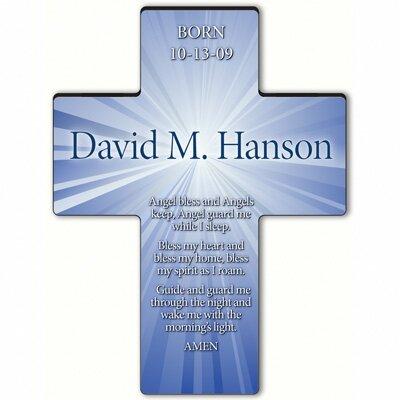 Personalized Gift Starburst Cross Prayer: Angel Bedtime Prayer