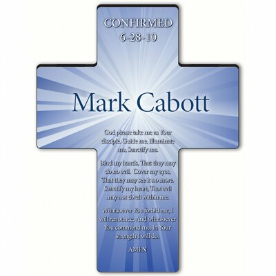 Personalized Gift Starburst Cross Prayer: Confirmation