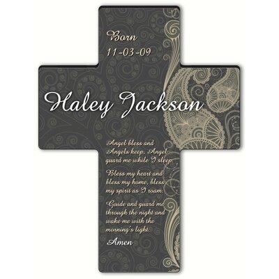 Personalized Gift Paisley Praise Cross Prayer: Angel Bedtime Prayer