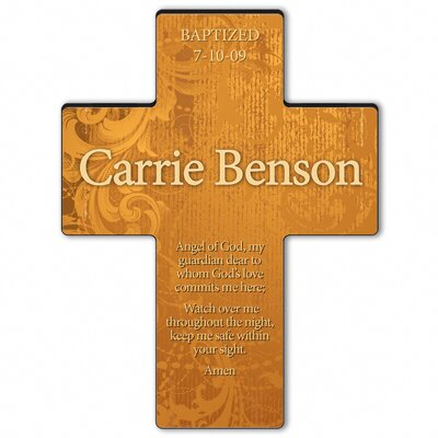 Personalized Gift Gardens of Grace Cross Prayer: Guardian Angel Prayer