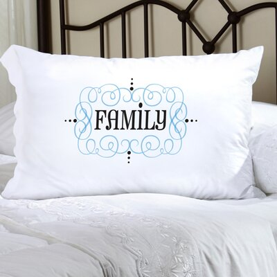 Personalized Gift Felicity Glamour Girl Pillowcase Color: Blue/Black