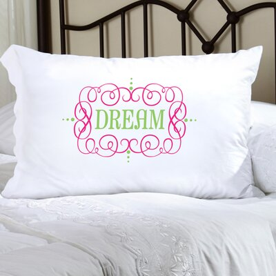 Personalized Gift Felicity Glamour Girl Pillowcase Color: Pink/Green