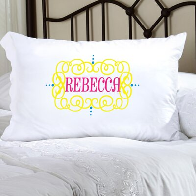Personalized Gift Felicity Glamour Girl Pillowcase Color: Yellow/Pink/Blue