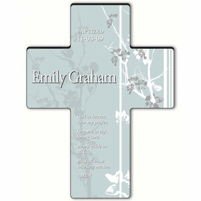 Personalized Gift Faith and Flowers Cross Prayer: Hear My Prayer
