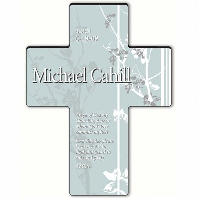 Personalized Gift Faith and Flowers Cross Prayer: Prayer of Protection
