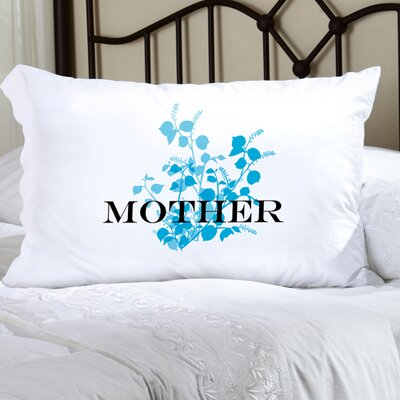 Personalized Gift Felicity Graceful Nature Pillowcase Color: Blue