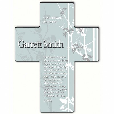 Personalized Gift Faith and Flowers Cross Prayer: Morning Prayer