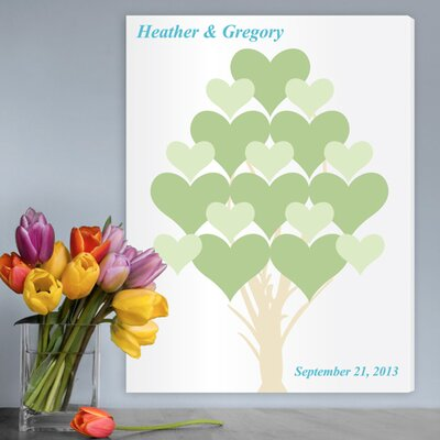 Personalized Gift Signature Branches of Love Graphic Art on Canvas