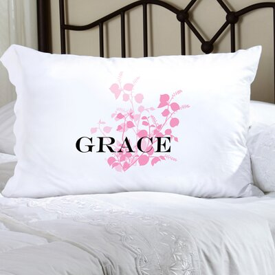 Personalized Gift Felicity Graceful Nature Pillowcase Color: Pink