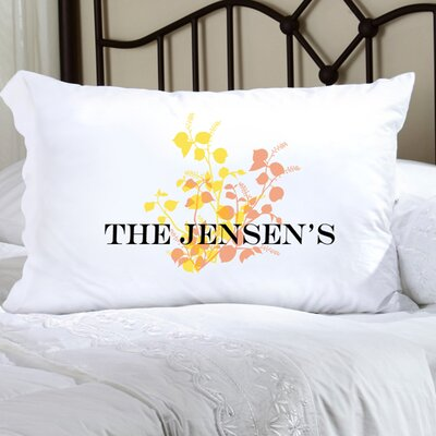 Personalized Gift Felicity Graceful Nature Pillowcase Color: Yellow/Peach