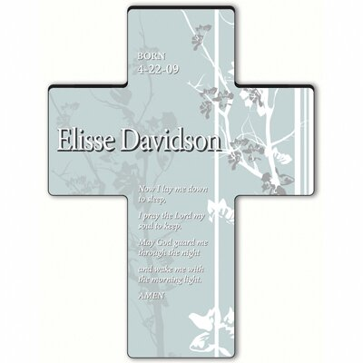 Personalized Gift Faith and Flowers Cross - Child's Bedtime Prayer Sculpture