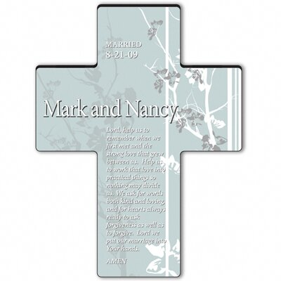 Personalized Gift Faith and Flowers Cross Prayer: Marriage Prayer