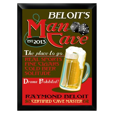 Personalized Gift Pub Sign Framed Graphic art