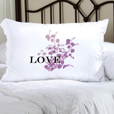 Personalized Gift Felicity Graceful Nature Pillowcase Color: Purple
