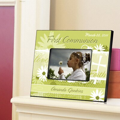 Personalized Gift Delicate Daisy Communion Picture Frame