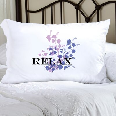Personalized Gift Felicity Graceful Nature Pillowcase Color: Purple/Lilac