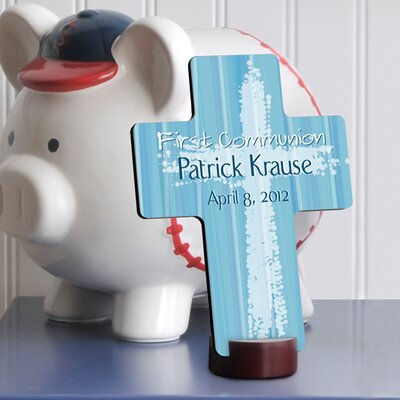 Personalized Gift First Communion Cross Color: Blue