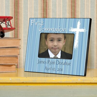 Personalized Gift First Communion Picture Frame Color: Blue
