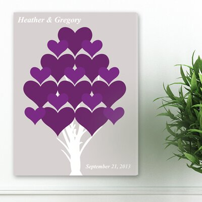Personalized Gift Signature Forever Hearts Graphic Art on Canvas