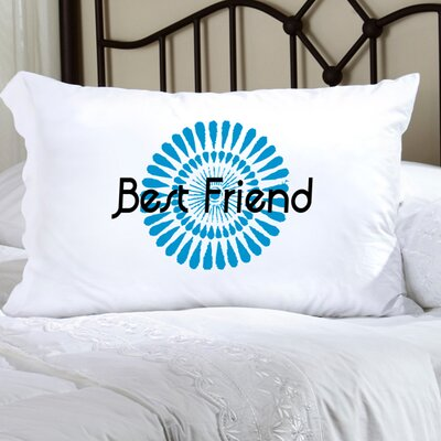 Personalized Gift Felicity Bouncy Bouquet Pillowcase Color: Blue