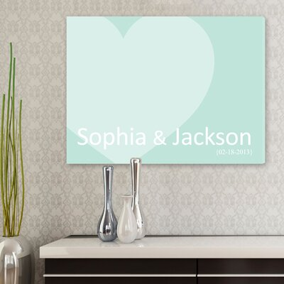 Personalized Gift Signature Heart Graphic Art on Canvas