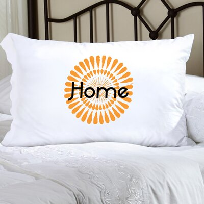 Personalized Gift Felicity Bouncy Bouquet Pillowcase Color: Carrot