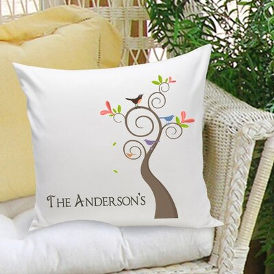 Personalized Gift Family Name Cotton Throw Pillow