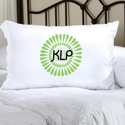Personalized Gift Felicity Bouncy Bouquet Pillowcase Color: Kiwi