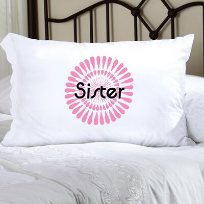 Personalized Gift Felicity Bouncy Bouquet Pillowcase Color: Pink