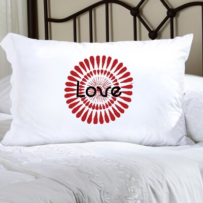 Personalized Gift Felicity Bouncy Bouquet Pillowcase Color: Red