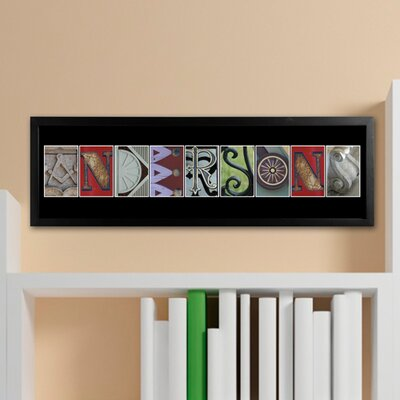 Personalized Gift Architectural Elements II Family Name Framed Photographic Print