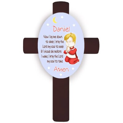 Personalized Gift Girl's Bedtime Prayer Cross Wall Plaque Hair Color: Blonde